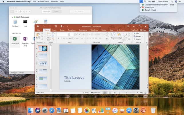 Microsoft Remote Desktop from Mac